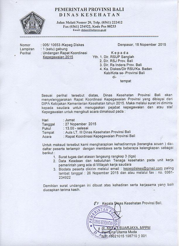 undangan rapat koordinasi kepegawaian 2015 kepegawaian